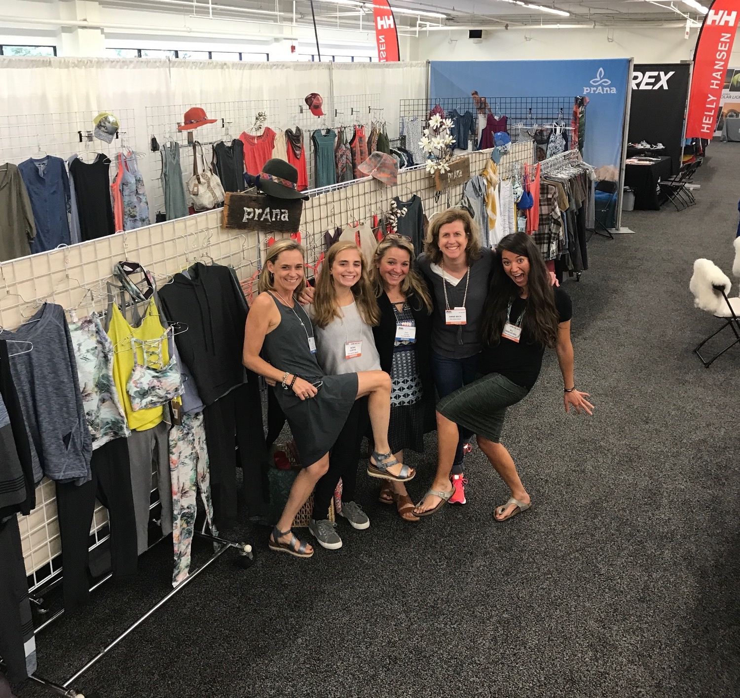 The girls from The Curtis Group having fun at the EORA Summer 2017 show.